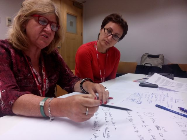 Lorraine Gamman and Daniela Sangiorgi at the Expert Workshop, 2 June 2014, V&A
